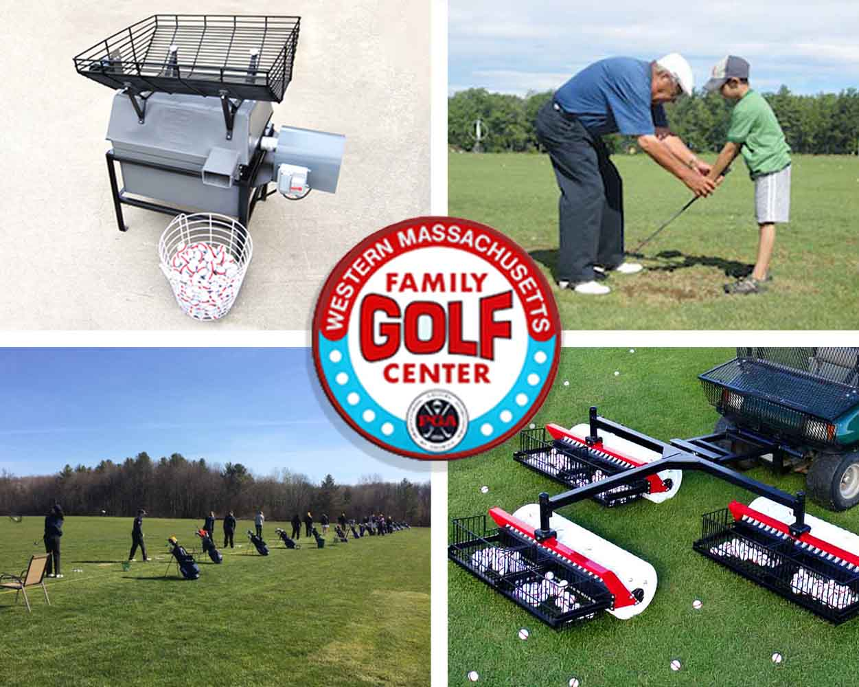 We use our own Golf Driving Range Equipment on our own Driving Range